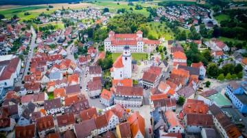 Schloss Messkirch aus der Vogelperspektive