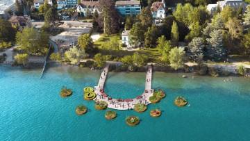 Schwimmende Gärten bei der Landesgartenschau Überlingen