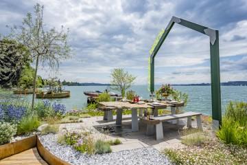 Schwimmende Gärten in Überlingen