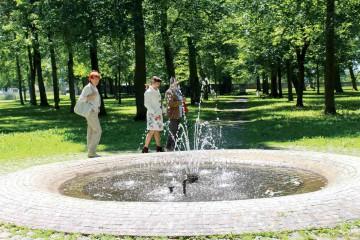 Spaziergang durch den Hofgarten des Schlosses Messkirch