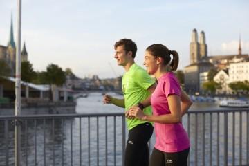 Beschilderte Marathonstrecke in Zürich