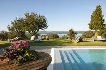 Der Pool des Gasthaus Hirschen mit Seeblick