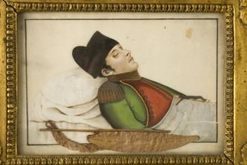 Napoleon im Sterbebett nach seinem Tod