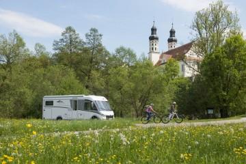 Im Reisemobil die Oberschwäbische Barockstrasse entdecken