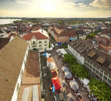 Blick auf Radolfzeller Marktplatz