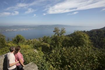 Ausblick auf den Bodensee bei Ruine Alt Bodman