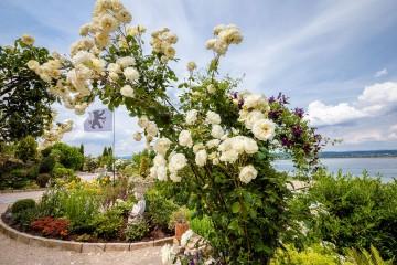 Üppiger Lust-Garten mit Ausblick auf den See