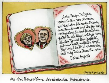 Aus dem Poesiealbum des türkischen Präsidenten