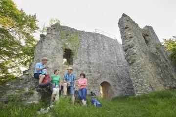 Picknick bei der Ruine Homburg